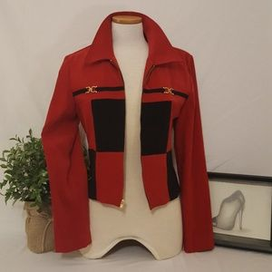 Jessica Howard Deep Red Fashion Blazer